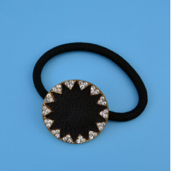 F-0011 Women Black Rubber Rope Sunflower Elastic Hair Bands Girls Hair Jewelry Accessories