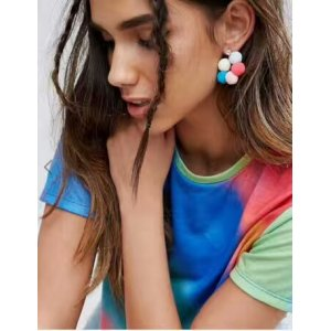 E-4217 Fashion Bohemian Style Flower shape Bead Rhinestone Earring for Women Jewelry