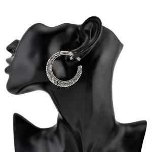 E-4213 2Colors New Arrival Retro Big Circle Dangle Drop Earrings For Women Jewelry
