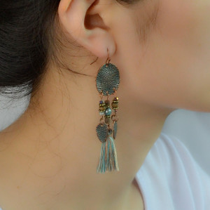 E-4220 3 Colors Fashion Bohemia  Tassel Drop Earring Charm Women Jewelry