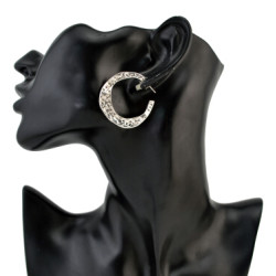 E-4221 3 Colors Retro Vintage Bohemian Big Circle Hoop Earring Women Party Jewelry