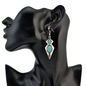 E-4226 2 Styles New Arriva Bohemian Dangle Drop Women shaped Turquoise Earrings for Women Jewelry