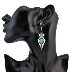 E-4226 2 Styles New Arriva Bohemian Dangle Drop Women shaped Turquoise Earrings for Women Jewelry