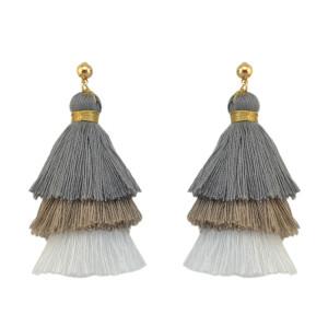 E-4230 * Colors New Fashion Women Tree shape Long Tassel Drop Dangle Earring for Women Bohemian Jewelry