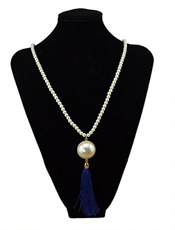 N-5695 European style fashion womens big imitation Pearl Tassel Pendant Charm Necklace jewelry