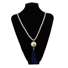 N-5695 European style fashion womens big imitation Pearl Tassel Pendant Charm Necklace jewelry
