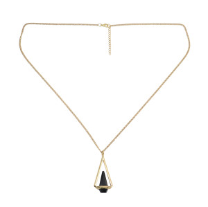 N-5371  Fashion Puck Long Chain Pendant Charm Necklace jewelry