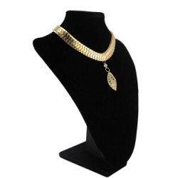 N-6220 2 style Bohemian Vintage Gold Snake chain leaves Diamante Pendant Necklace Statement Necklaces for Women