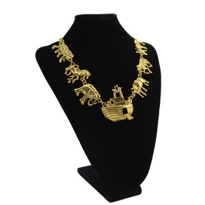N-5329  Vintage Gold plated with Different Animals Pendant Charm Necklace