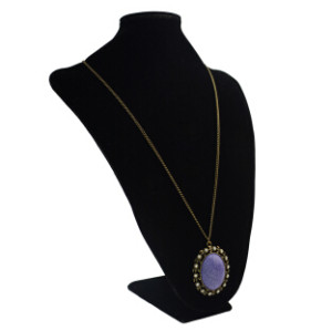 N-0545 Vintage Gold plated Stone Pendant Charm Bohmeian Necklace For Women Jewelry
