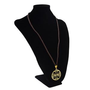 N-0555 Fashion Bohemian Leather Pendant Dangle Drop Handmade Necklace for Women