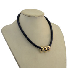 N-2867 Punk Style Skull Pendant Black Leather Choker Necklaces for Women Party Birthday Gift Jewelry