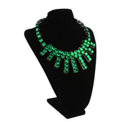 N-3098 Fashion Long Chain Stone Pendant Diamante Stone Necklace For Women Jewelry
