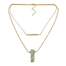N-5457 Fashion Chain Multilayer Gemstone Pendant Necklaces for Women Jewelry