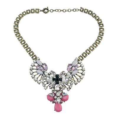 N-3078 NEW Chunky Chain Luxurious Bubble Statement Necklace for Woman