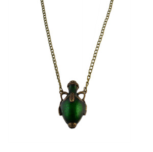 N-2364 New Vintage Long Chain Bottle Pendant Necklace For Women