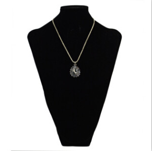 N-2268 New Fashion Long Alloy Waterdrop Crystal Rhinestone Pendant Necklace For Charm Women Jewelry