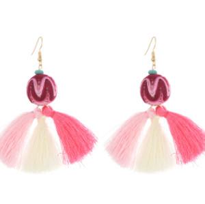 E-4240 Fashion 3 Colors Women Thread Tassel Drop Earrings Bohemian Wedding Party Jewelry Gift