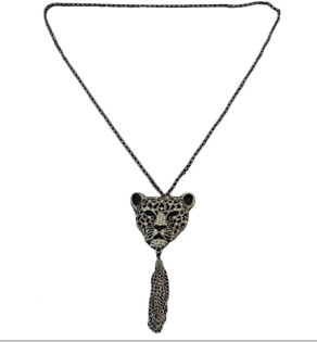 N-3260 Personality 2 Colors Leopard Shape Pendant Necklaces for Women Bohemain Birthday Gift