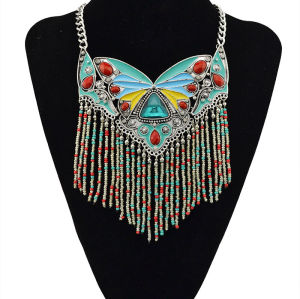 N-5479 3 colors Hot Silver Plated Beautiful Butterfly Design Elegant Pendant Necklace