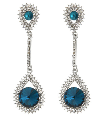 E-4249 4Colors Fashion  Diamond Long Crystal Drop Stud Dangle Rhinestone Earrings Party Jewelry
