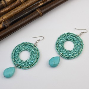 E-3712 New Arrival Retro Big Circle Dangle Drop Earrings For Women Jewelry