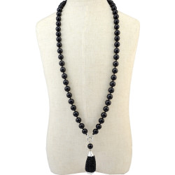 N-6402  Bohemian Style Fashion Necklaces Big Resin Ball Beaded Pendant Necklace Women Jewelry