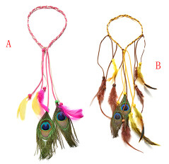 F-0455 2style  Handmade Bohemian Feather Headbands Hiar Accessories Fashion Jewelry