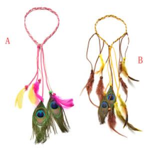F-0455 2style  Handmade Bohemian Feather Headbands Hiar Accessories Fashion Jewelry