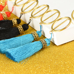 E-4252 European Style 4 Colors Stud Charm Tassel Gold Earring for Women Accessories