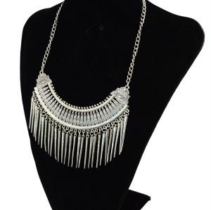 N-5555 N-5498 Vintage Bohemian Pendant Tassel Turquoise Necklace for Women Accessories