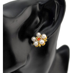 E-0522 Fashion Pearl Rhinestone Flower Stud Earring for women party jewelry