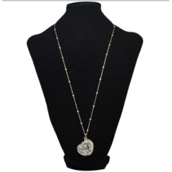 N-4848 N-4835 2Styles Vintage Flower Heart Shape Pendant Necklaces for Women Party Birthday Gift