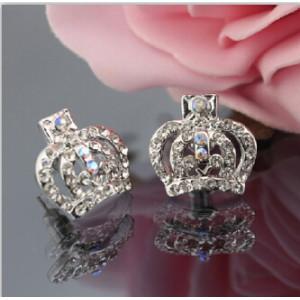 E-1094 E-1082 2 Styles Fashion Skull Rhinestone Crown Shape Stud Earrings for Women Girl Party Jewelry Gift