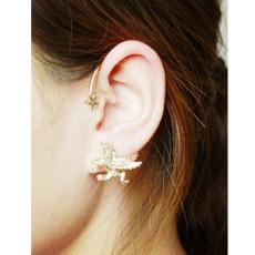 E-3614 1pcs Alloy Flying Horse Shape Ear Cuff Piercing Jewelry for Women