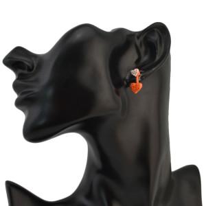 E-1048 Fashion Heart Shape Stud Earring Jewelry for Women