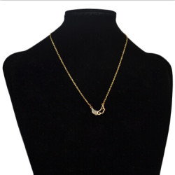 N-2804 Cute Women Gold Plated Wing Shape Pendant Necklaces Party Anniversary Jewelry Gift