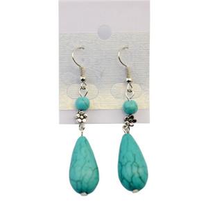 E-3724 Bohemian Summer Style Brincos Leaf Tassel Long Drop Earrings Gypsy Green Stone Dangle Drop Earring Indian Jewelry