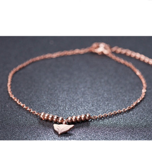 B-0723 New Korean fashion style bell butterfly anklet summer beach love ankle anti-allergic jewelry female models