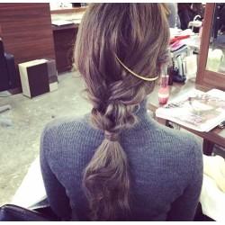 F-0302-G Simple Jewelry Gold Metal Hair Clip Women Hair Comb Hair Accessories
