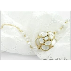 B-0185 B-0516 2Styles Bohemia Gold Silver Plated Flower Shape Coin Tassel Pearl Link Chain Bracelets for Women Fashion Accessories