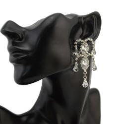 E-2110 New Fashion Korean Style Silver/Gold Plated Alloy Rhinestone Crystal Ants Drop Ear Stud Earrings