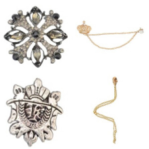 P-0045 P-0018  P-0075  F-0107 4Style Vintage Retro skull crown Flower Brooch Pins Brooches Match All Clothing for Man Women