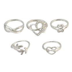R-1317 R-1320 Fashion Gold Silver Metal Midi Finger Rings for Women Bohemian Wedding Party Jewelry