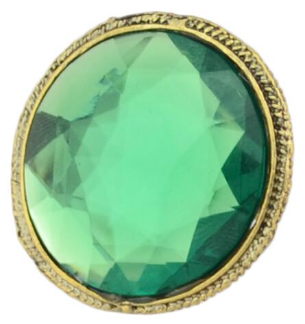 R-0804 R-0800  Gold Tone Engraving Big Cat Eye Gem Stone Ring