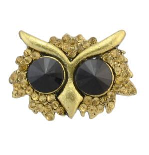 R-0519  R-0743 Vintage Silver Gold Metal Rhinestone Owl Fish Shape Adjustable Rings for Women Bohemian Fashion Accssories