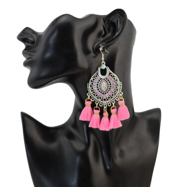 E-4276 4 Colors Ethnic Bohemian Thread Tassel Drop Earrings for Women Party Anniversary Jewelry Accessories