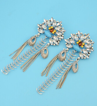 E-4284 New Fashion Bohemian Big Rhinestone Drop Earrings for Women Wedding Party Jewelry Gift