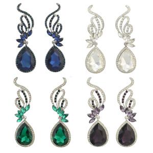 E-4286 Fashion Luxury Crystal Rhinestone Charm Earring for Women Jewelry