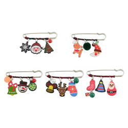 P-0380 Christmas Gift Cartoon Clothing Corsage Brooch Pin Jewelry